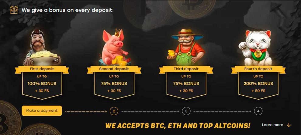 ไม่มีการฝากเงิน bitcoin คาสิโนสด